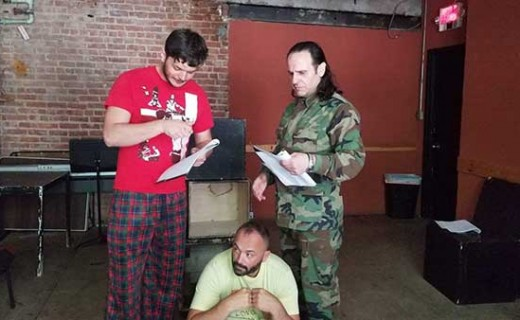 """New York City-based """"Honey and Blood Theater"""" has produced a play entitled """"An Albanian, a Serb and the Soldiers""""."""